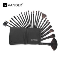 Vander 24Pcs Professional Soft Cosmetic Shadow Eyeliner Powder Foundation Beauty Makeup Brush Set Kit Pouch Bag