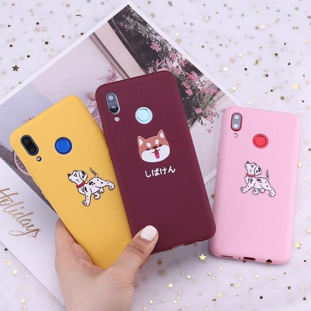 Para Xiaomi mi rojo mi nota 5 5 5 6 6 7 8 9 lite Pro Plus Akita dálmata Shiba Inu cachorros de Pug funda de teléfono de silicona Capa Fundas Coque