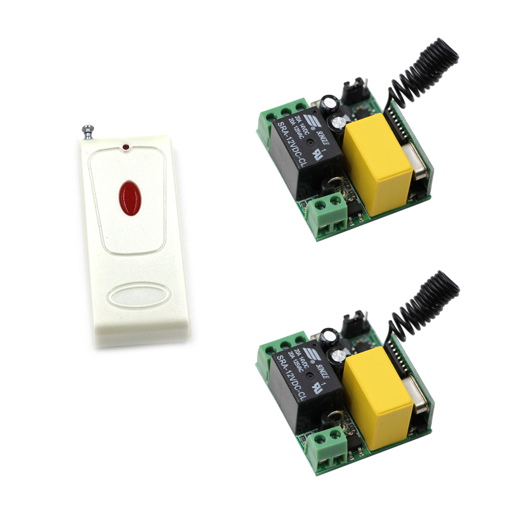 New AC220V 1 CH Wireless Remote Controller Relay Switch System Mini Receiver Module and Remote Controller Light Lamp LED ON OFF 2pcs receiver transmitters with 2 dual button remote control wireless remote control switch led light lamp remote on off system
