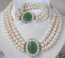 Naturel charmant blanc perle gemme fermoir collier bracelet Quartz Fine mariée large montre ailes femmes reine