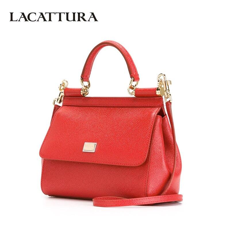 LACATTURA luxe sacs à main en cuir femmes sacs à bandoulière haut de marque-poignée sac bandoulière pour dame marque de mode bracelets