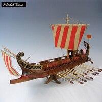 Wooden Ship Models Kits 3d Laser Cut Scale 1/50 Model Ship Assembly Train Hobby Model Wood Educational Toy Roman Warship CAESAR