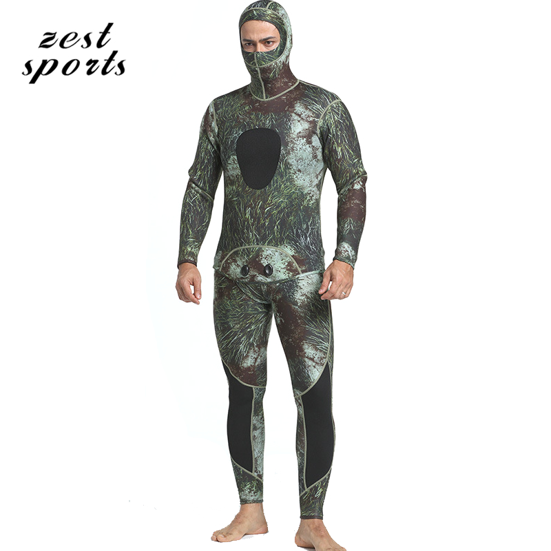 MY053,men 3mm neoprene diving suit,Split wetsuit/Fishing clothes, Siamese Vest-style + hooded jacket,personality seaweed pattern 5mm men neoprene diving suit split wetsuit fishing and hunting clothing siamese vest style hooded jacket my013