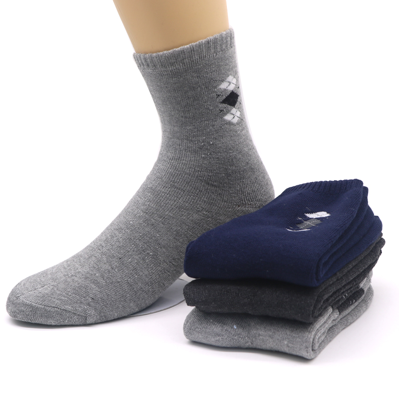 4Pairs Autumn Winter Warm Mens Cotton Socks Male Business Casual Thermal Thick Mens Dress Socks Meias Chaussette Masculinas
