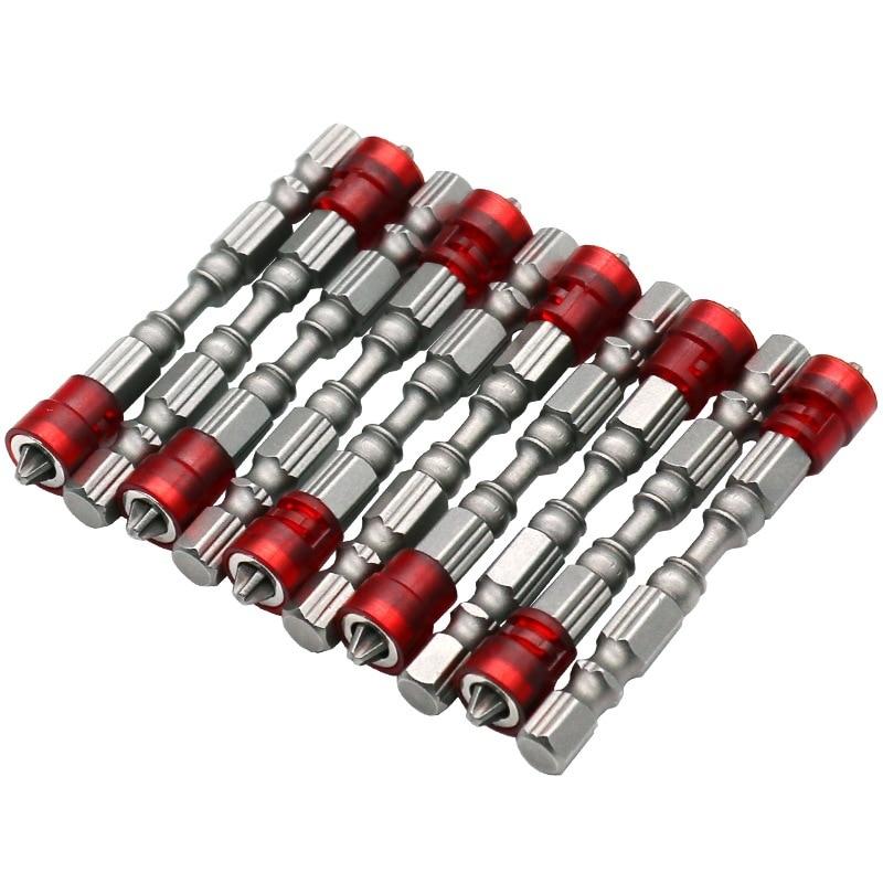 """Punta de destornillador magnético de 10 piezas de 65 mm Punta de profundidad de vástago hexagonal de 1/4 """"Topes de destornillador para paneles de yeso Brocas de destornillador Phillips Ph2"""