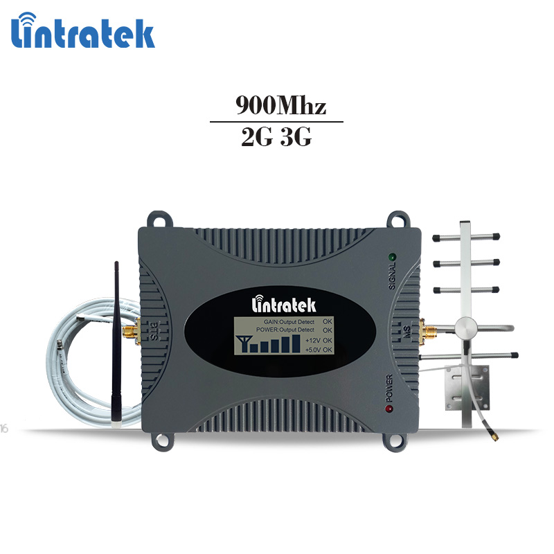 Lintratek GSM celular signal repeater GSM 900Mhz mobile signal booster gsm cellphone amplifier 2g repetidor 65dBi 2G Repeater#6