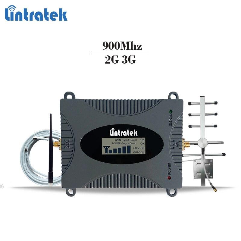 Répéteur de signal celulaire GSM Lintratek amplificateur de signal mobile GSM 900Mhz amplificateur de téléphone portable gsm 2g répétiteur 65dBi 2G répéteur #6