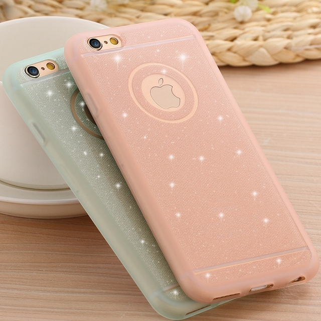 KISSCASE Glitter Powder Soft Silicone TPU Case For iPhone 5 5s SE With Logo  Shining Gel c2af5f7b3