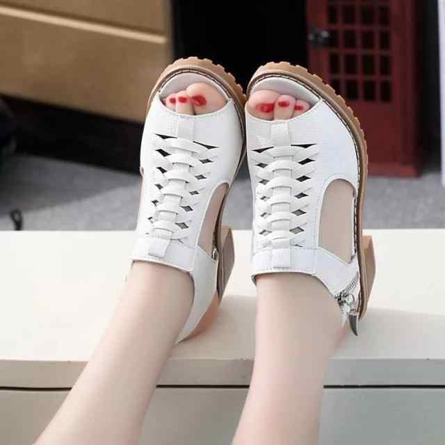 Yeni Siyah Gladyatör Sandalet Yaz Ofis Yüksek Topuklu Ayakkabılar Kadın Kadın oyulmuş Roma kadın ayakkabısı Rahat Kadın Ayakkabı