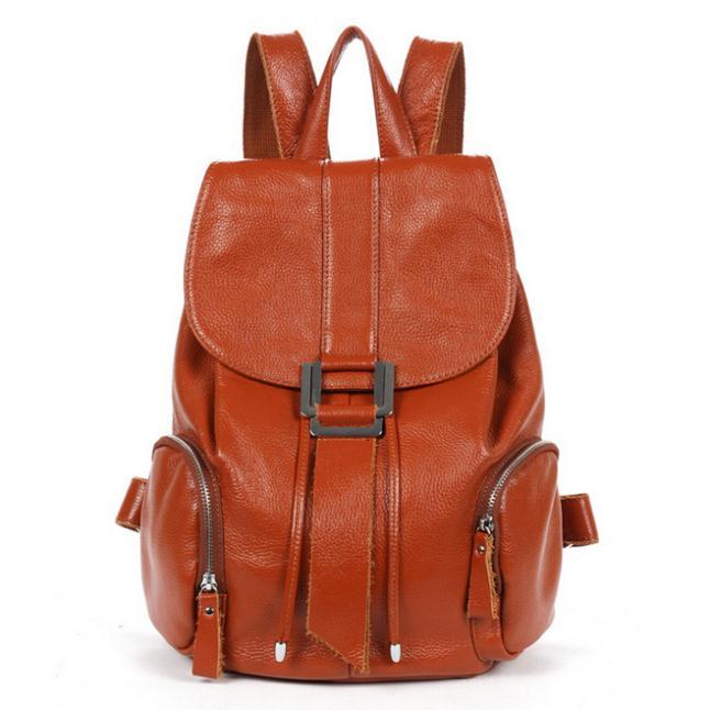 [3 Colors] New Fashion Genuine Leather Women Backpacks Travel Bag Students Books Bag Satchels High Quality Free Ship WBG1055