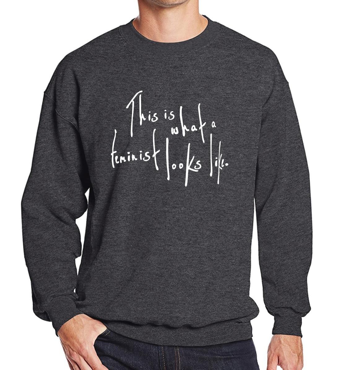 Sweatshirt men hoodies 2018 spring winter This Is What a Feminist Looks Like printed fleece tracksuits brand-clothing hip hop