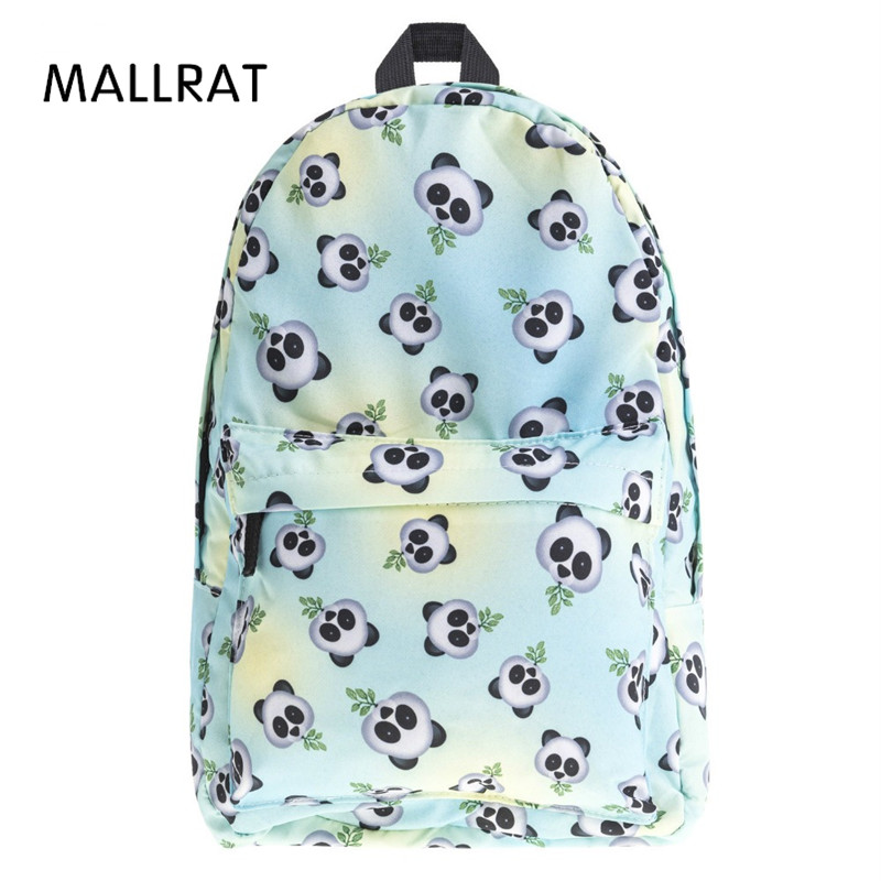 MALLRAT Eomji Panda Print Backpack Women Mochila Necessaire School Bags Bookbag for teenage girls sac a dos canvas backpack women backpack soft leather large capacity casual travel backpack school bags for girls student bookbag mochila mujer sac a dos