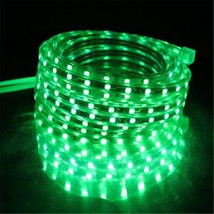 Image 5 - Светодиодная лента, гибкая водонепроницаемая лента SMD 5050, 60 светодиодов на метр, 220 В перем. тока, 1/2/3/5/6/8/9/10/15/20 м
