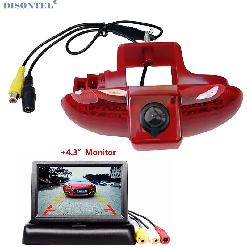 HD Car Rear View Brake Light Camera For OPEL VAUXHALL VIVARO 2001-2014 TRAFIC 2001-2014 COMBO 2001-2011 With 4.3