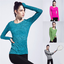 Cool Long-sleeved Sports T-shirt For Gym Fitness Running Jogging Yoga Exercise Breathable Long Sleeves With Thumb Holes Shirts