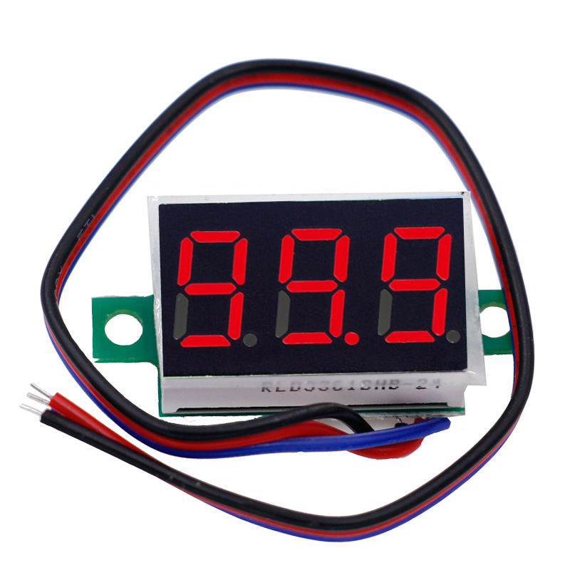 20pcs 0.36 Digital Voltmeter Three wires 3 digit dc 0-200V Voltage Panel Meter tester Display led Color red 40% off 100 pcs ld 3361ag 3 digit 0 36 green 7 segment led display common cathode