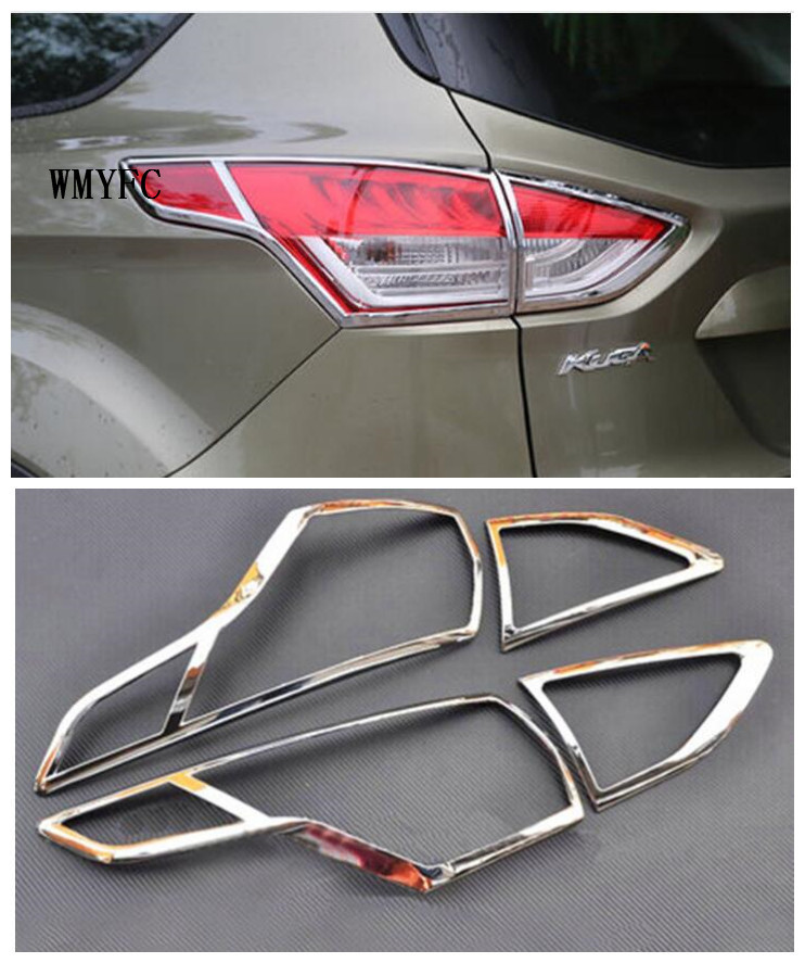 ABS Chrome rear tail light lamp cover trim for Ford Kuga Escape 2013 2014 2015