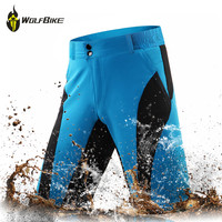 WOSAWE Mens Bike Cycling Tights Mtb Shorts Waterproof Women Cycling Downhill Underwear Cycling Mountain Bike Riding