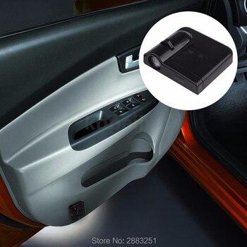 2 uds estilo de coche de la puerta de coche proyector de luz de cortesía etiqueta engomada del logotipo para Honda fit acuerdo crv civic 2006-2012 jazz de la ciudad de accesorios