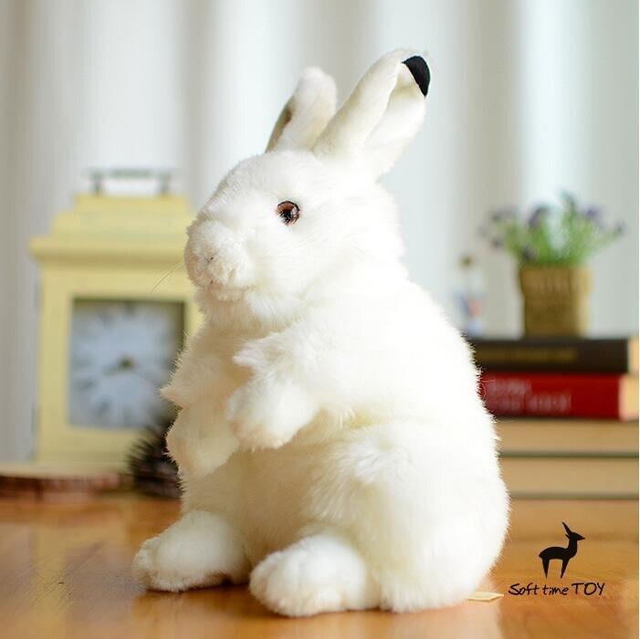 Doux mignon peluche arctique lapin poupée grand jouet vraie vie animaux en peluche bébé jouets filles cadeau d'anniversaire