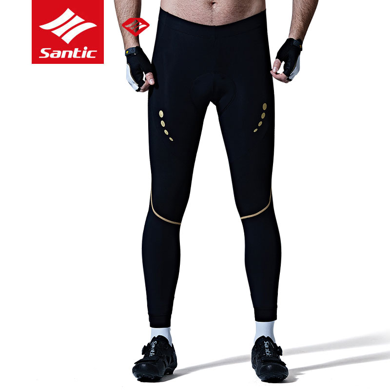 New Santic Mens Cycling Pants Pro Breathable Coolmax 4D Padded MTB Road Bike Trousers Shockproof Anti-Pilling Bicycle Clothings
