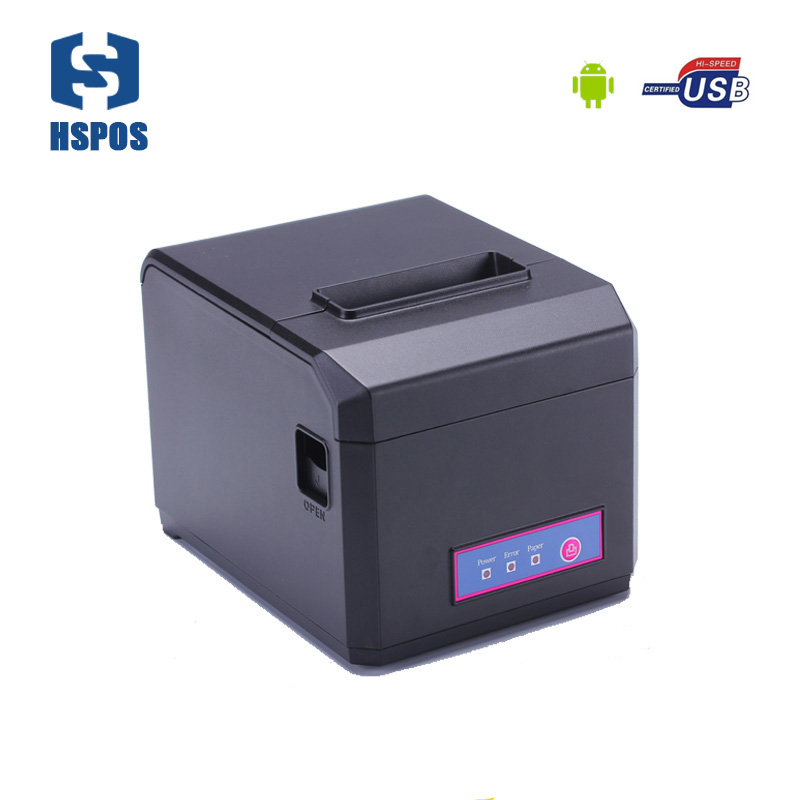 hot sell usb android bluetooth receipt pos 80mm and 58mm thermal printer with cutter support high speed printing low cost and high quality thermal printing cheap pos80 receipt printer support linux windows10 use for business hs 825uc