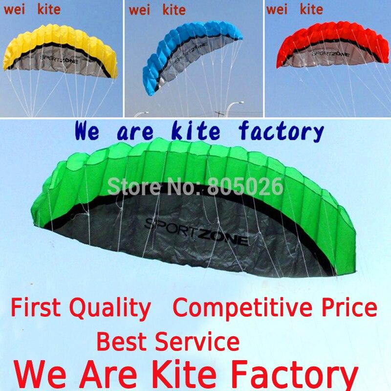 Envío Gratis doble, de 2,5 m línea truco de cometa Parafoil Kite surf volando diversión al aire libre deportes kiteboard