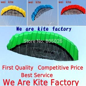 free shipping 2.5m dual Line Stunt power Kite soft kite Parafoil kite surf flying outdoor fun sports kiteboard(China)