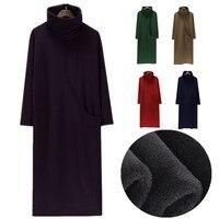 New 2019 Autumn And Winter Fashion Turtleneck Long Sleeve Casual Dress Women Thicken velvet Dresses Plus Size dress S 5XL 6XL