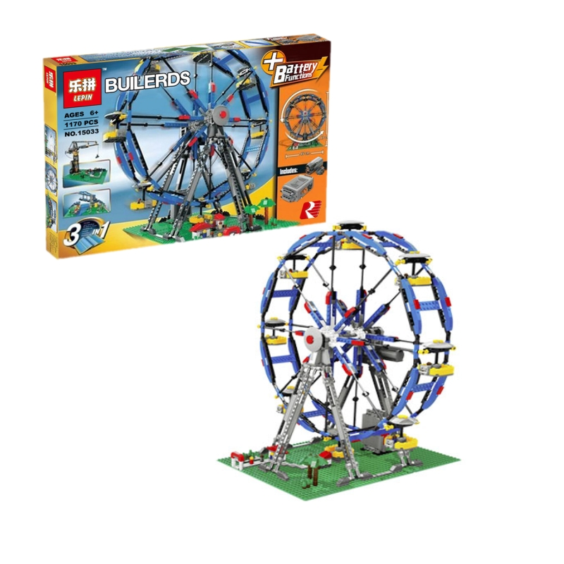 Lepin 15033 Ferris Wheel Truck building bricks blocks Toy Boy Game Model Car Gift Compatible with Bela Decool 4957 lepin 02005 volcano exploration base building bricks toys for children game model car gift compatible with decool 60124