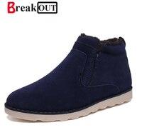 High Quality Snow Boots Men S Winter Warm Leather Shoe Fur Warm Shoes For Men Shoes