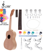 Slade 23 Inch Mahogany Ukulele DIY Kit Concert Hawaii Guitar with Rosewood Fingerboard and All Closed Machine Head