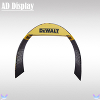 270cm Width 230cm Height Expo Booth Portable Tension Fabric Printed Banner Arch Display Advertising Wall