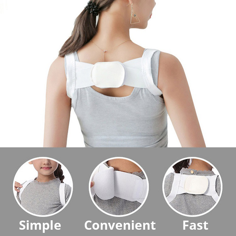 Image 4 - Back Posture Corrector Clavicle Back Support Correction Back Straight Shoulders Brace Strap with Velcro for Adult Chilren-in Braces & Supports from Beauty & Health
