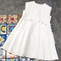 30adced931 2018 Summer New Sleeveless Women Dress O Neck Vest Autumn Dress For Women  Snow White Women