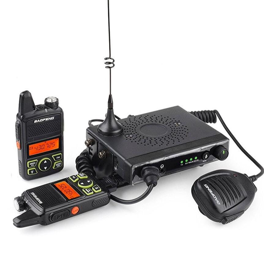 Baofeng T1 portable car radio station 15w mini mobile car transceiver with 2 pcs portable walkie talkie use in truck