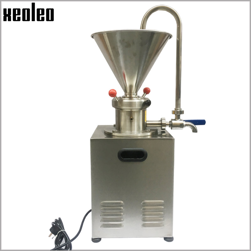 Xeoleo Commercial Peanut butter maker 1500W Stainless steel Butter machine Nut Grinder 30kg/h Sesame butter Grinding machine CE peanut butter maker machine grinding machine with motor peanut butter machine