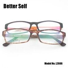 Better Self L2606 PC Glasses Optical Eyewear Rectangle Optics Imitate Ultem Lazy Retro Men Woman Eyeglasses Frame