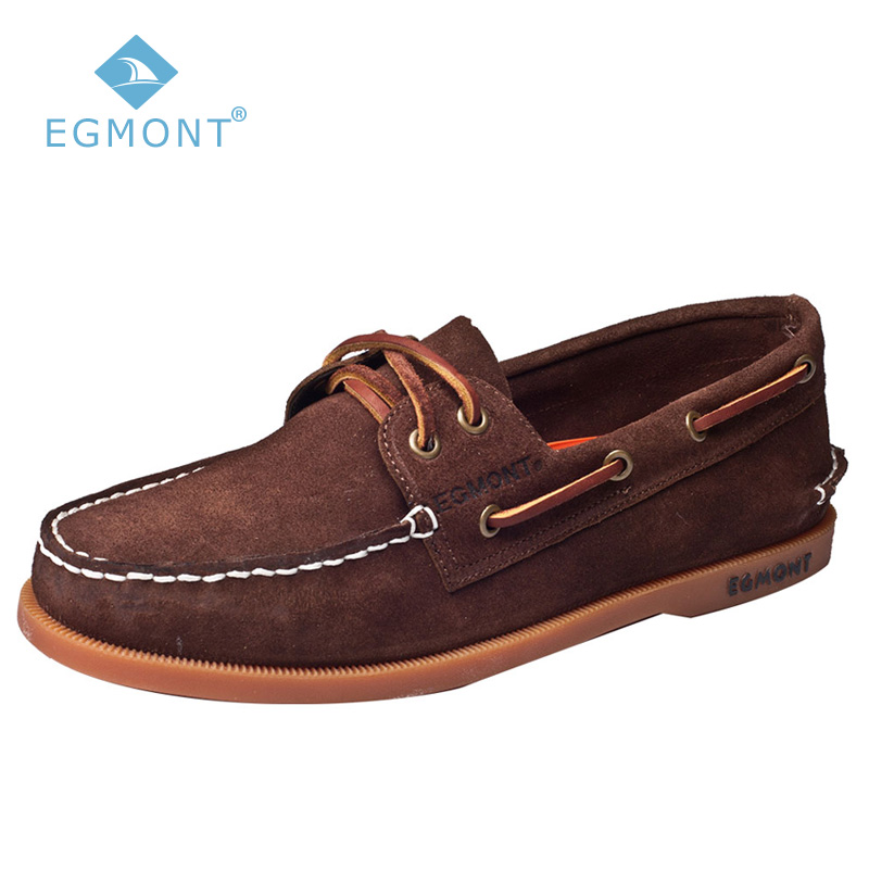 Egmont EG-52 DK Brown Spring Summer Boat Shoes Mens Casual Shoes Loafers Genuine Leather Handmade Comfortable Breathable браслет oceania браслет
