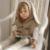 Chifuna Grande Lindo Del Oído de Conejo Suéter Suéteres Chaleco Largo Vestidos de Suéter de Las Muchachas 2017 Nuevos Niños Niñas Primavera Vestido de Punto