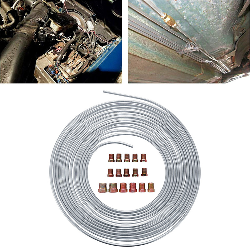 "w// Tube cutter Stainless Brake Line Tube Coil Roll 1//4/"" 16 ft"