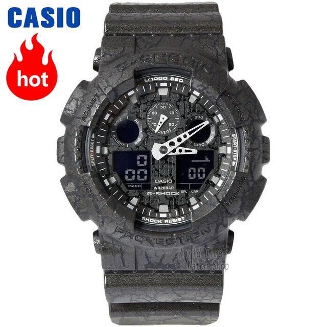 Reloj Casio con estuche grande, reloj de choque, hombres la marca top Juego limitado, relogio militar, LED, digital, deporte, 200m, cuarzo resistente