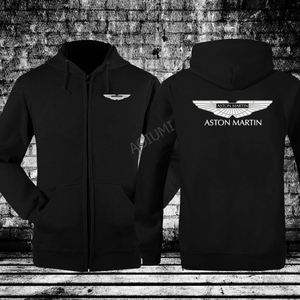 for man winter Black and White Color Aston Martin Sweatshirt Long Sleeve zipper coat mens jackets(China)