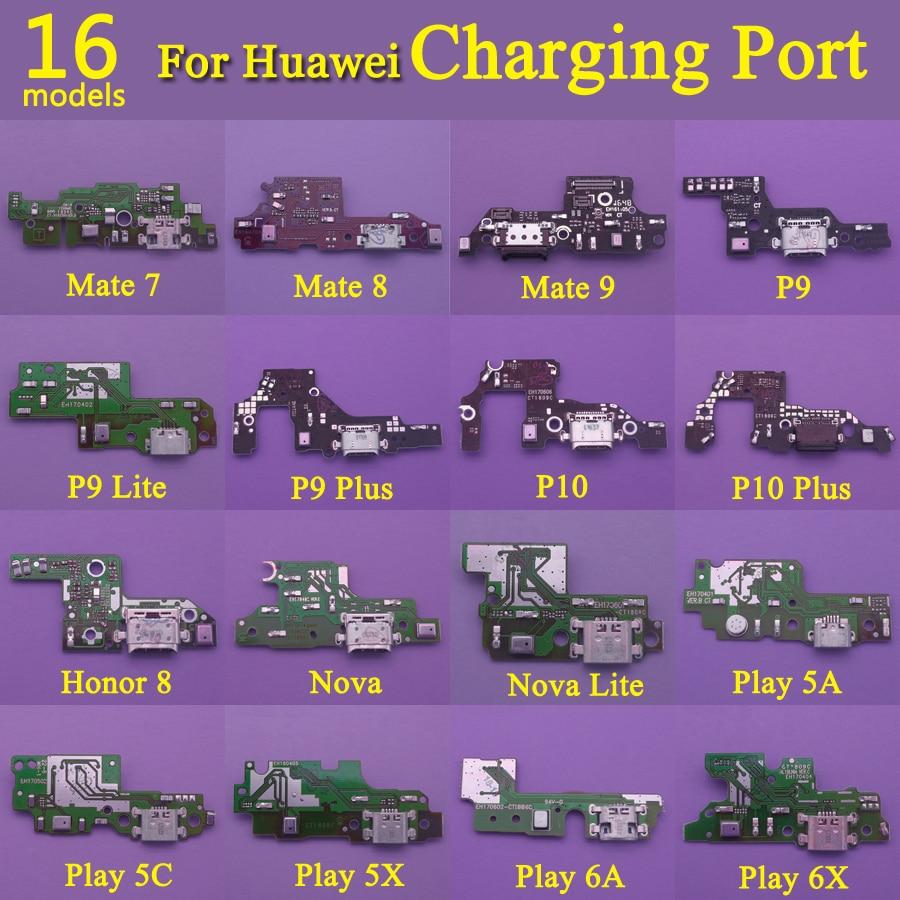 16models Micro Dock Board USB Charging Port Connector For HUAWEI Mate 7 8 9 P9 Lite P10 Plus Nova Honor 8 Play 5A 5C 5X 6X 6A