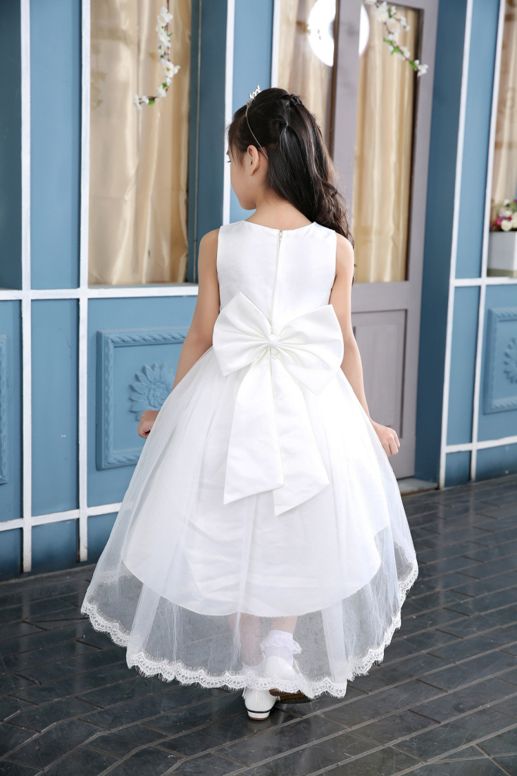 High Quality Trailing Flower Girl Dresses Girls Party Dress