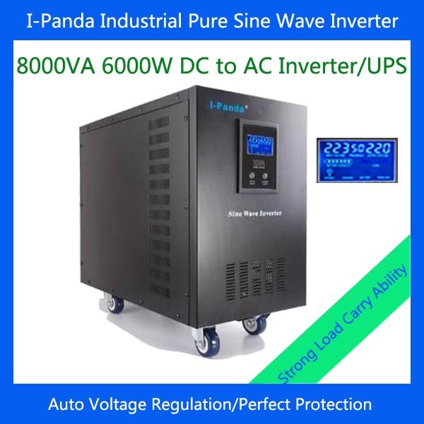 посуда для тушения thermos rpc 6000w rpc 6000w 6l 6000W pure sine wave inverter 6000W voltage converter single phase for solar power system