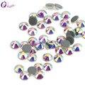 QIAO caliente arreglar diamantes de imitación de hierro en diamantes de imitación para ropa de alta calidad SS10 SS12 SS16 SS20 SS30 Cristal AB de calor en la espalda piedra de cristal