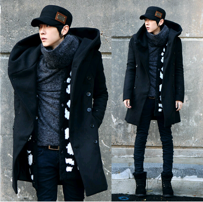 Mens hooded pea coat online shopping-the world largest mens hooded