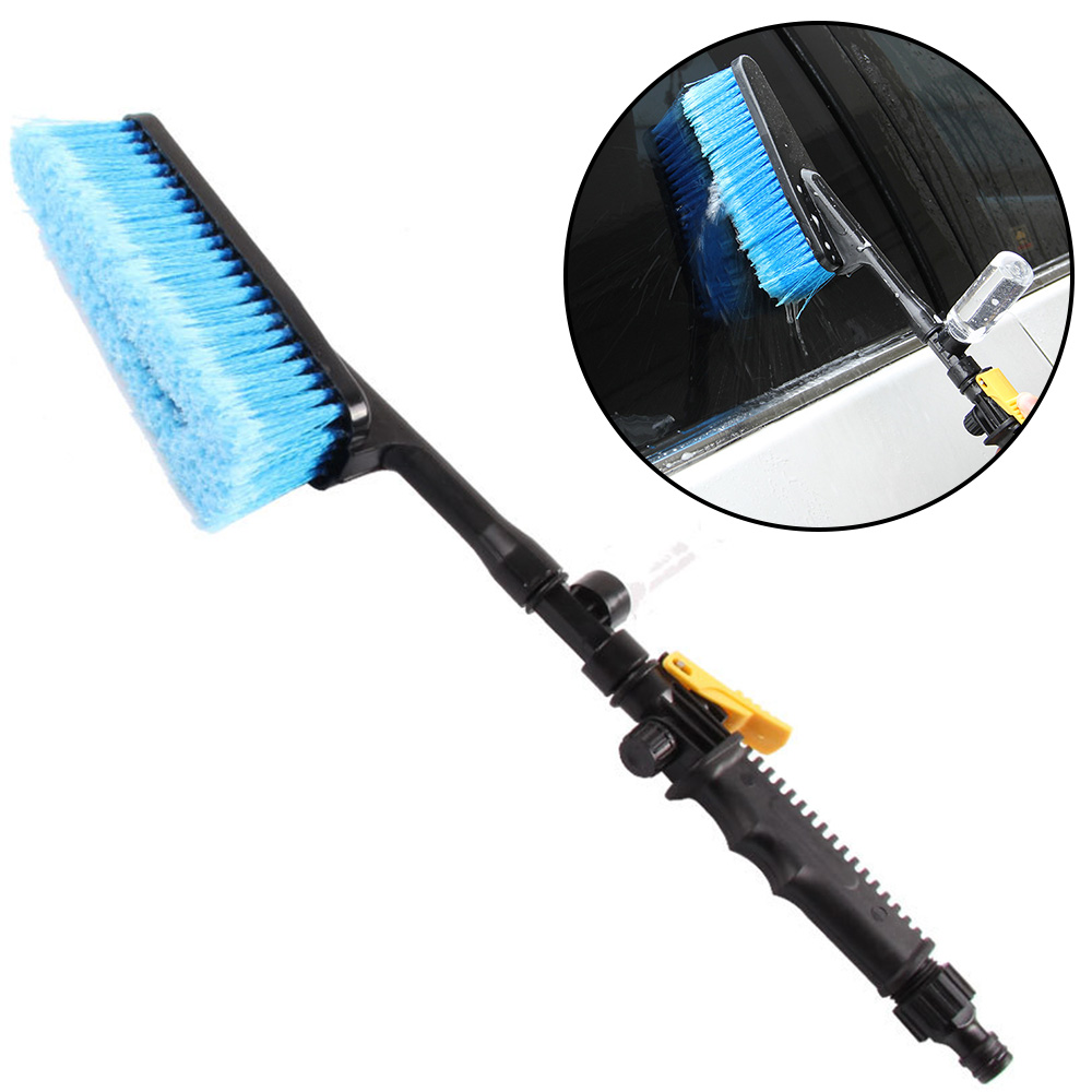 Tire Clean Tool Car Cleaning Brush Retractable Long Handle Car Wash Brush Water Foam Flow Brush Care Washer
