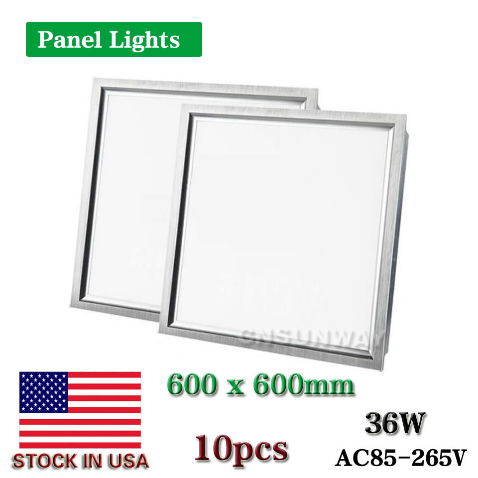Led panel light square lampada2x2 ft 600x600mm 36w high bright led indoor ceiling lamp cold white
